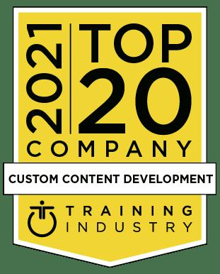 2020 Top 20 Custom Content Development Training Industry Award