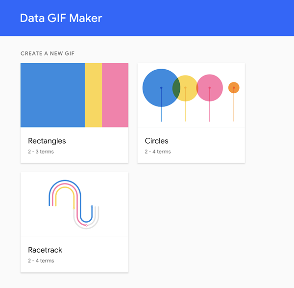 Google Data Gif Maker Options